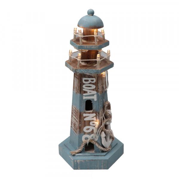 Tony Brown maritimer Leuchtturm mit LED-Beleuchtung