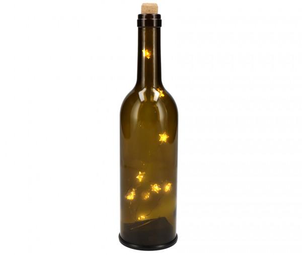 Idena Deko-Weinflasche mit LED-Lichterkette