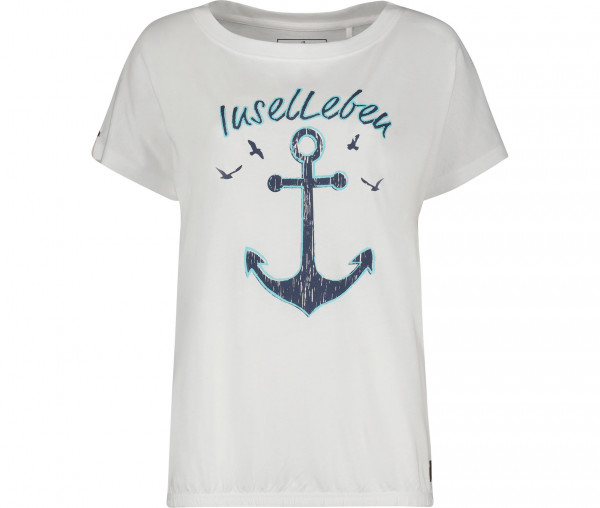 InselLeben Damen T-Shirt Ida Halbarm Anker