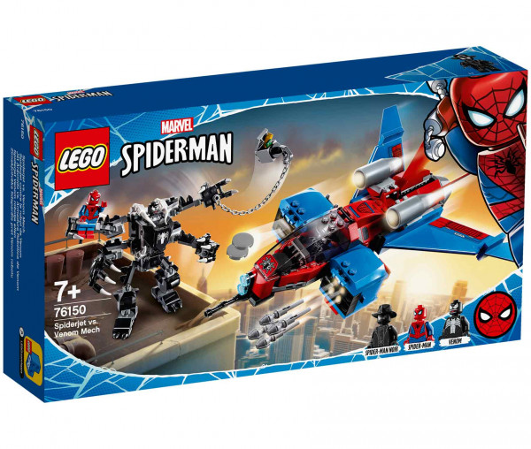 76150 LEGO® Marvel Super Heroes Spiderjet vs. Venom Mech