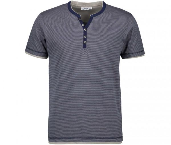 Tony Brown Herren Henley-Shirt