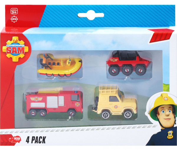 Dickie Toys Feuerwehrmann Sam 4-teiliges Set