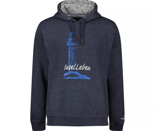 InselLeben Herren Hoodie Klausi Leuchtturm