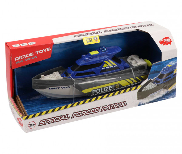 Dickie Toys Special Forces Patrol Polizeiboot