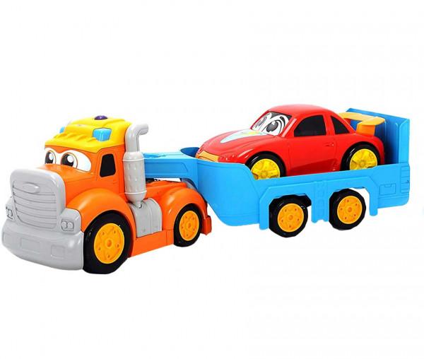 Happy Truck LKW mit abnehmbarem Anhänger und Auto
