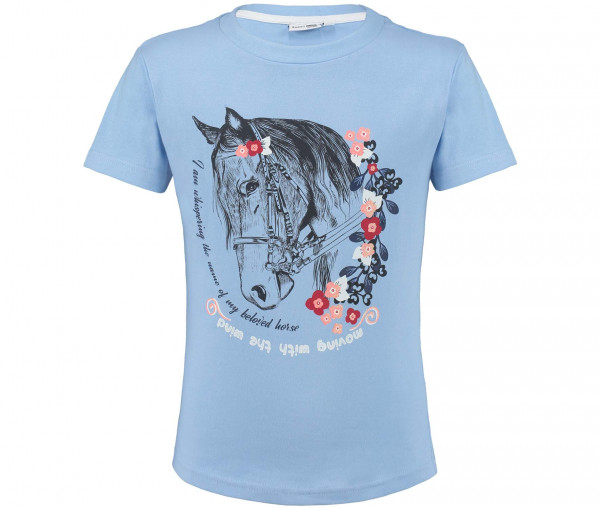 Emma Brown Mädchen T-Shirt Pferd mit Glitzer