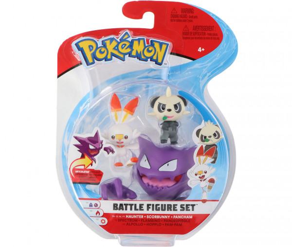 Pokémon Battle Figure Set Pam-Pam, Hopplo und Alpollo