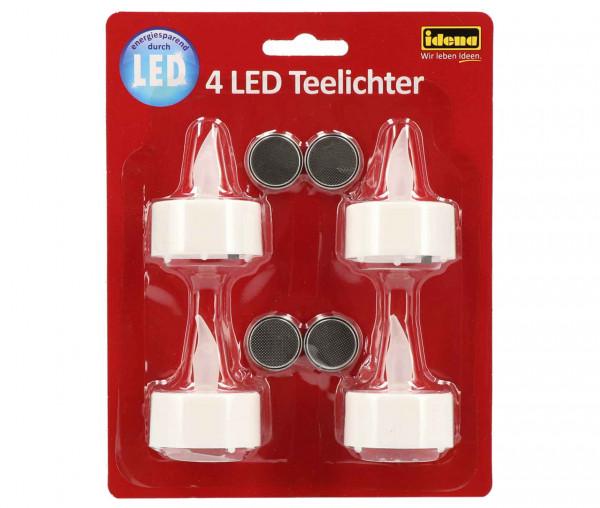 Idena 4 LED-Teelichter
