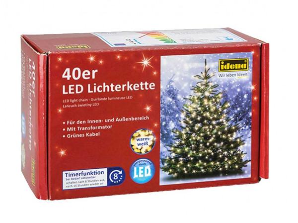 IDENA LED-Lichterkette 40er
