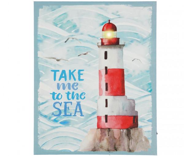 Tony Brown LED-Bild Take me to the sea