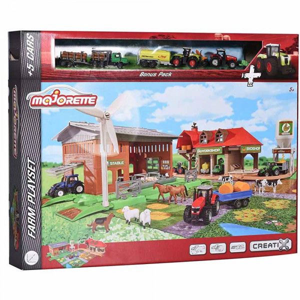 Majorette 212050009 - Creatix Big Farm Set