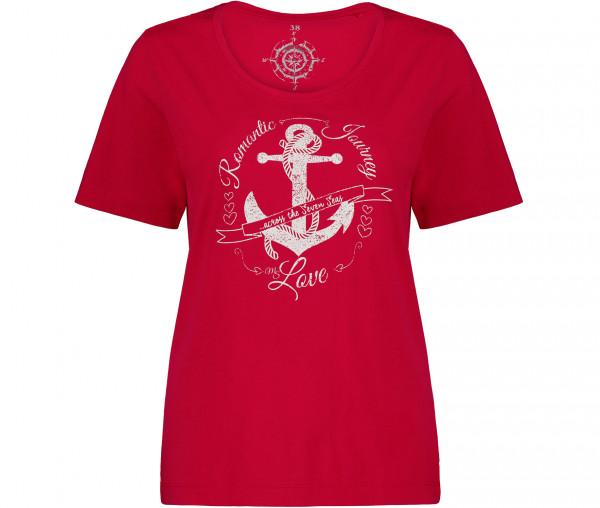 Julia Brown Damen T-Shirt Anker Liebe