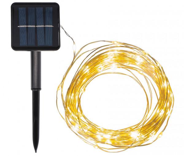 Idena LED Solar Micro-Lichterkette 120er