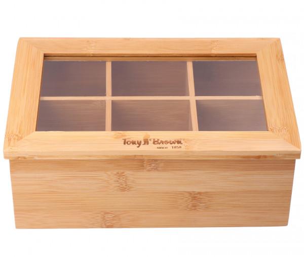 Tony Brown Bambus Teebox 24 x 16 x 9 cm