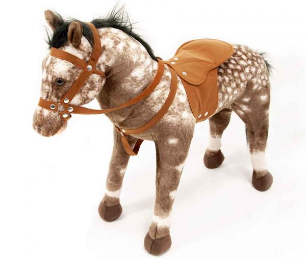 Happy People 58933 - Rassepferd Apfelschimmel Pferd mit Sound