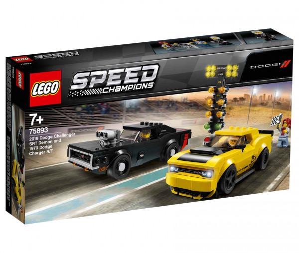 75893 LEGO® Speed Champions 2018 Dodge Challenger SRT Demon und 1970 Dodge Charger R/T