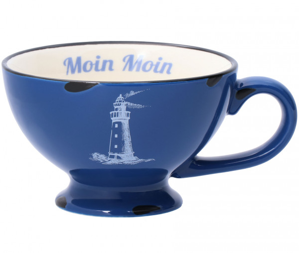 Tony Brown Tasse in Emaille-Optik Moin Moin