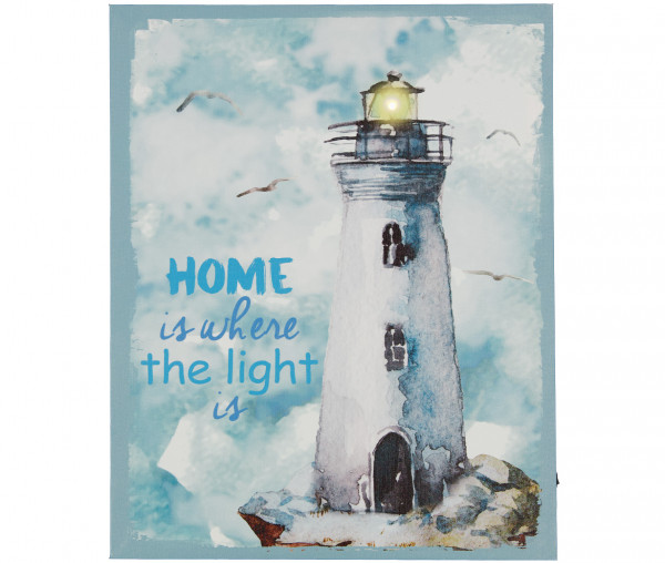 Tony Brown LED-Bild Home is where the light is