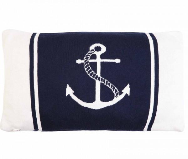Tony Brown maritimer Kissenbezug 30 x 50 cm Anker weiß/navy