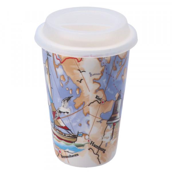 Tony Brown Coffee to go Becher Segelboot