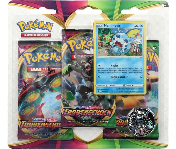 Pokémon Schwert & Schild 3er Boosterpack Farbenschock