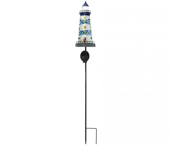 Solar Gartenstecker Leuchtturm