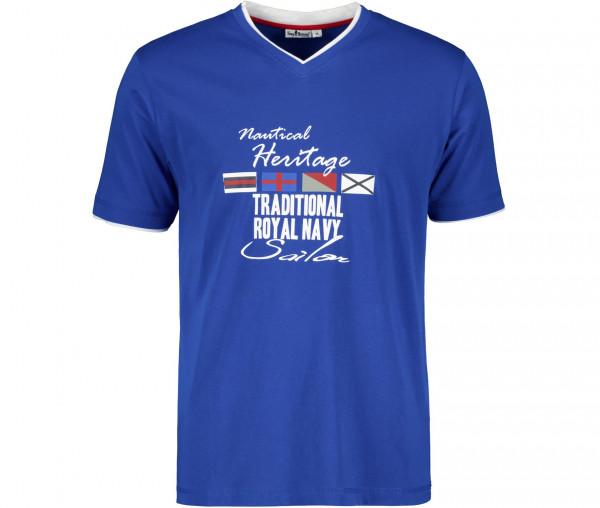 Tony Brown Herren T-Shirt V-Neck Sailing