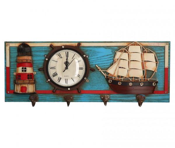Tony Brown Kleiderhaken mit Uhr