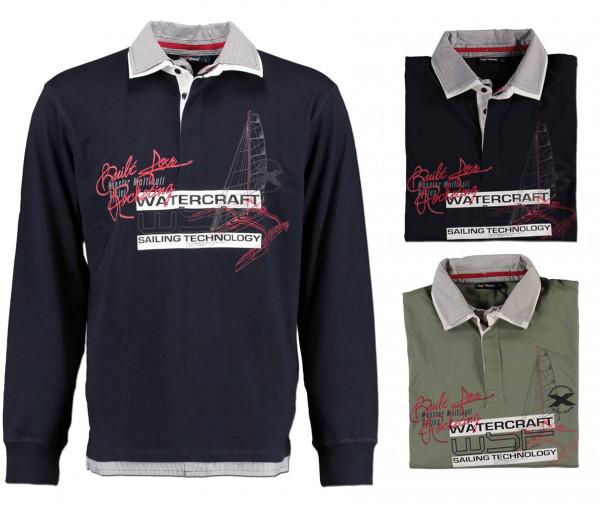 Tony Brown Langarm-Poloshirt