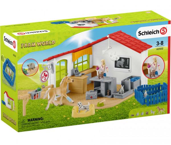 Schleich 42502 Farm World Tierarzt-Praxis mit Haustieren