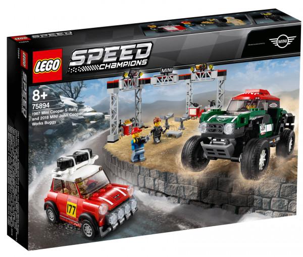 75894 LEGO® Speed Champions Rallyeauto 1967 Mini Cooper S und Buggy 2018 Mini John Cooper Works