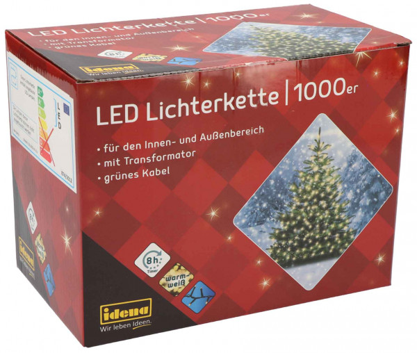 Idena LED Lichterkette 1000er