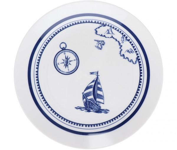 Tony Brown Frühstücksteller Segelboot