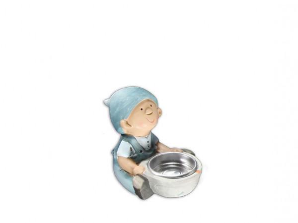 Tony Brown Figur mit Teelicht