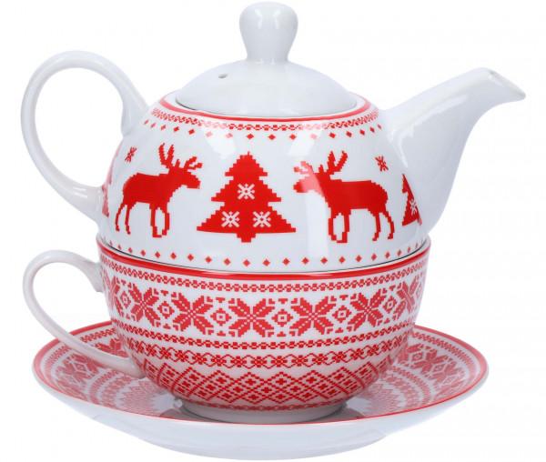Teekannen-Set Elch