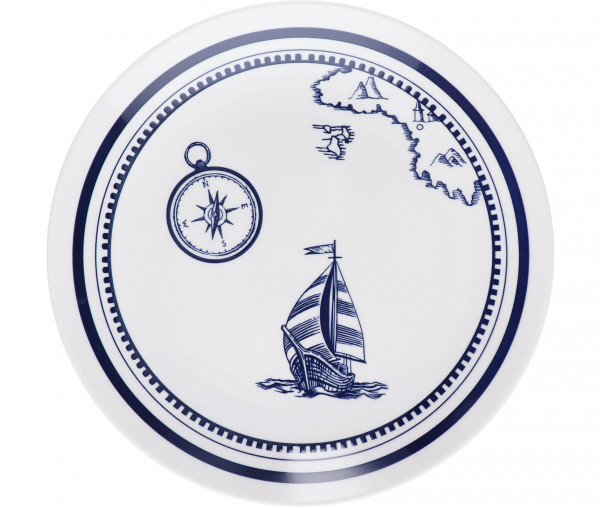 Tony Brown Suppenteller Segelboot