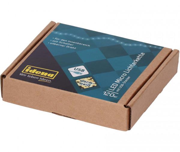Idena LED Micro-Lichterkette 120er
