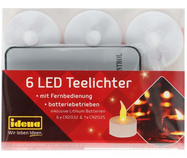 Idena 6 LED Teelichter