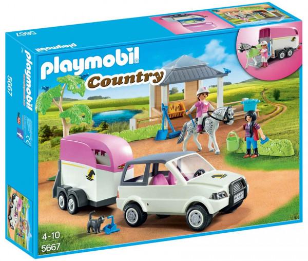 Playmobil 5667 - Reitstall mit Pferdeanhänger