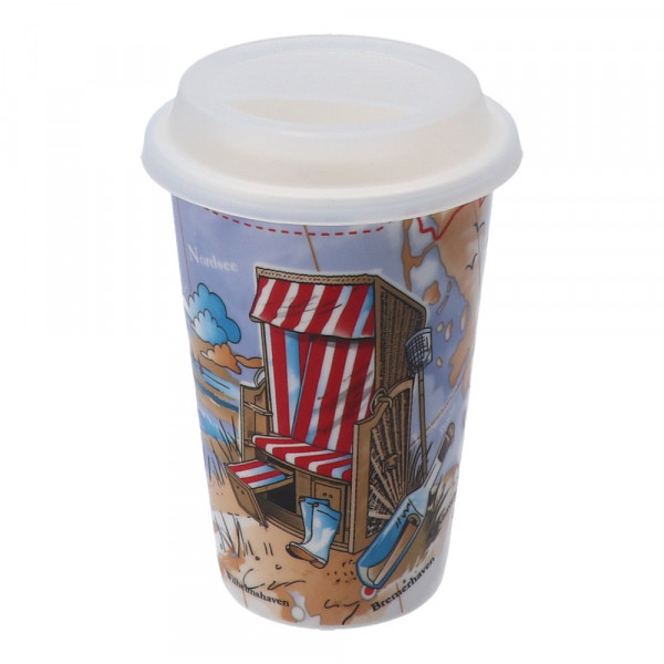 Tony Brown Coffee to go Becher Strandkorb