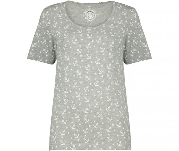 Julia Brown Damen T-Shirt Anker & Sternchen