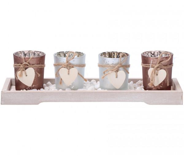 Teelichthalter-Set 5-teilig