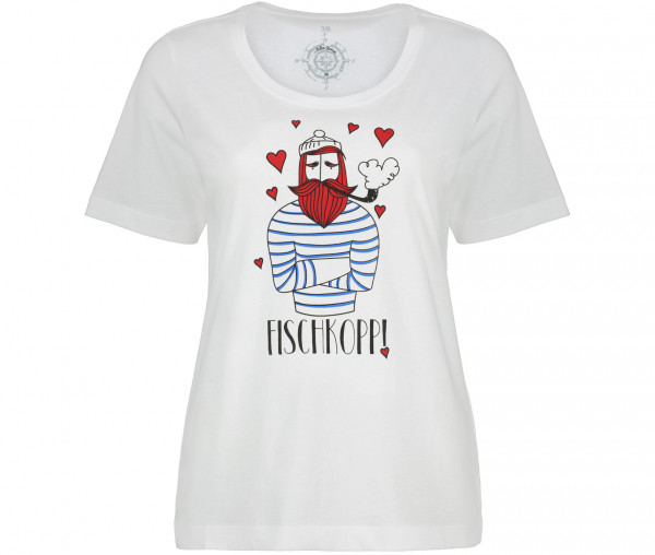 Julia Brown Damen T-Shirt Fischkopp!