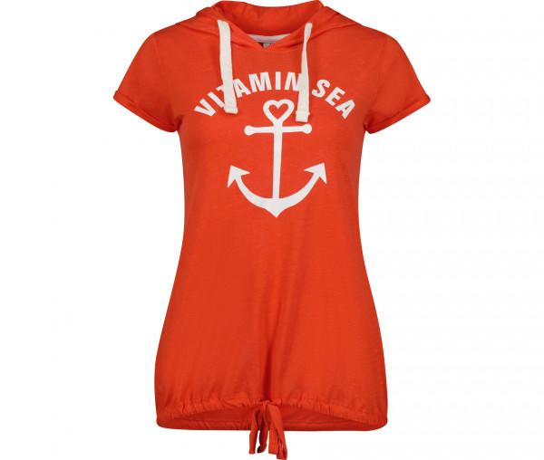 Sublevel Damen T-Shirt Kapuze Vitamin Sea Anker