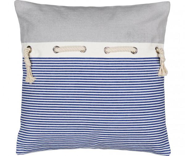 Tony Brown maritimes Kissen 45 x 45 cm Streifen blau/weiß