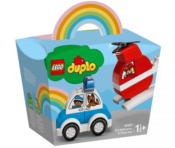 10957 LEGO® DUPLO® Mein erster Feuerwehrhubschrauber und mein erstes Polizeiauto