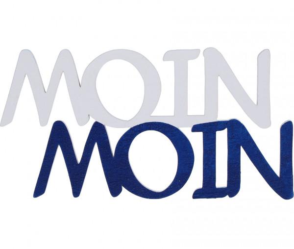 Dekorativer Holzspruch MOIN MOIN
