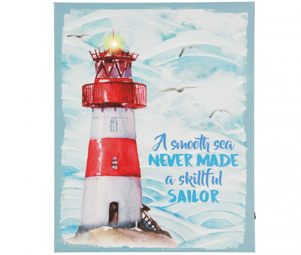 Tony Brown LED-Bild A smooth sea never made a skillful sailor
