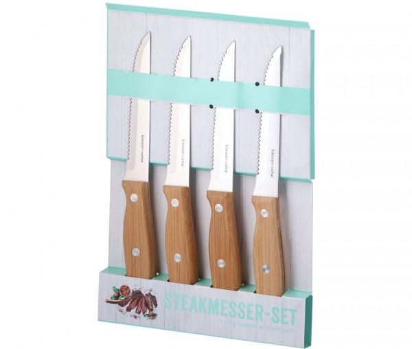 Steakmesser-Set mit Bambusgriff