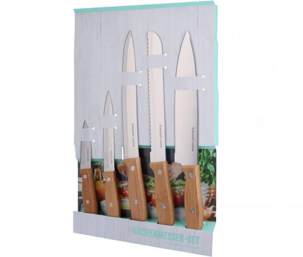 Küchenmesser-Set mit Bambusgriff